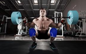 Картинка сила, muscle, мышцы, штанга, тренажерный зал, gym, Weights, powerlifting, barbell, Пауэрлифтинг