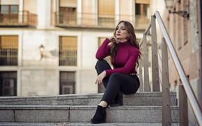 Картинка девушка, город, Elena