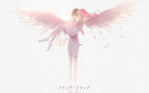 Картинка девушка, романтика, ангел, парень, 002, Darling In The Frankxx, Милый во Франксе, Хиро