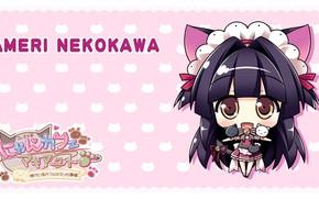 Картинка девочка, милашка, кошечка, Nyan Cafe Macchiato