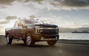 Картинка Chevrolet, Chevrolet Silverado, 2019, Chevrolet Silverado 2500HD High Country Crew Cab