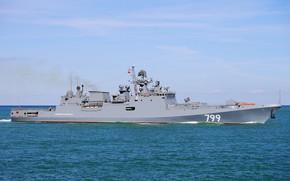 Картинка корабль, фрегат, сторожевой, адмирал макаров