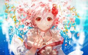 Картинка цветы, рука, девочка