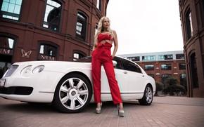 Картинка машина, авто, девушка, поза, стиль, фигура, брюки, Андрей Суровый, Агнета Королевская
