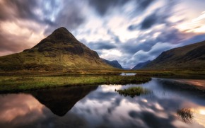 Картинка небо, облака, гора, Исландия