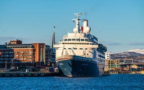 Картинка корабль, причал, Норвегия, Tromso
