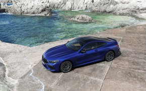 Картинка берег, купе, BMW, сверху, 2019, BMW M8, M8, M8 Competition Coupe, M8 Coupe, F92