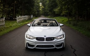 Обои BMW, Lights, White, Convertible, Face, F83, Adaptive LED