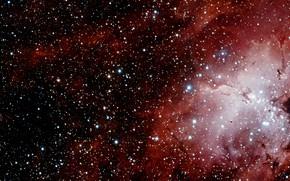 Картинка Stars, Nebula, VST, VLT Survey Telescope, Messier 16, Gas Clouds, H II Region, Sharpless 2-54, …