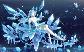 Картинка девушка, лёд, магия льда