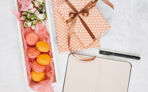 Картинка печенье, ручка, подарки, блокнот, dessert, Notebook, pen, presents