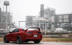 Картинка Red, Toyota, Car, Ass, Supra
