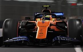 Картинка трасса, гоночный автомобиль, F1 2019, Mclaren MCL34