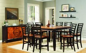 Картинка стол, стулья, интерьер, столовая