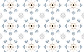 Картинка цветы, ретро, фон, узор, текстура