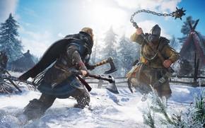 Картинка битва, Assassin's Creed, викинги, Ubisoft Montreal, 2020, Valhalla, Assassin's Creed Valhalla