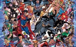 Картинка Герои, Бэтмен, Супермен, Wonder Woman, Batman, Superman, DC Comics, Flash, Aquaman, Комиксы, Флэш, Аквамен, Чудо …