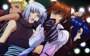 Картинка группа, аниме, арт, парни, Gundam, Mobile Suit Gundam, поют