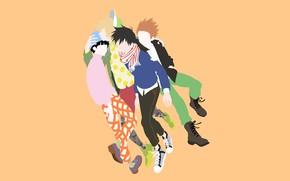 Картинка стиль, минимализм, парни, друзья, Mob Psycho 100, Кагеяма Шигео, Моб психо 100