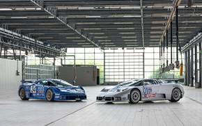 Картинка Bugatti, пара, суперкары, EB110, Bugatti EB110 SS LM
