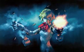 Картинка игра, аниме, арт, киборг, персона, Persona