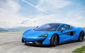 Картинка McLaren, Синий, Машина, Car, Render, Суперкар, Рендеринг, Спорткар, Синий цвет, 570S, McLaren 570S, Transport & …