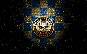 Картинка wallpaper, sport, logo, football, glitter, checkered, MLS, Philadelphia Union