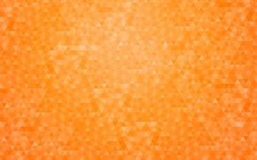 Картинка оранжевый, абстракция, фон, узор, геометрия, треугольник