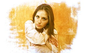 Картинка colors, girl, beautiful, face, glance, canvas, Kide Fotoart