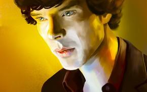 Картинка рисунок, арт, живопись, Шерлок Холмс, Бенедикт Камбербэтч, Benedict Cumberbatch, Sherlock, Sherlock BBC, Sherlock (сериал), by …