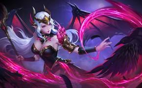 Картинка магия, игра, красота, game, magic, ворон, raven, beauty, League of Legends, Morgana, LOL, Лига Легенд, …