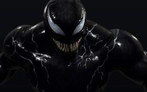 Картинка улыбка, зубастый, Веном, Venom, симбиот