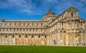 Картинка здание, Италия, собор, Пиза, архитектура, Italy, Pisa, Pisa Cathedral, Пизанский собор