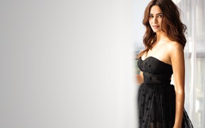 Картинка Kriti Kharbanda, makeup, face, girl, hot, eyes, brunette, actress, smile, pretty, hair, beautiful, figure, sexy, …
