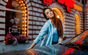 Картинка машина, авто, взгляд, девушка, поза, Павел Ермаков, Гульмира Юсубжанова