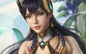 Картинка взгляд, девушка, Irelia, League Of Legends