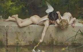 Картинка Спасение, французский живописец, Emile Munier, 1894, French painter, oil on canvas, Эмиль Мюнье, Un sauvetage, …