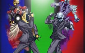 Картинка Музыка, Фон, Daft Punk, Thomas Bangalter, Дафт Панк, Маски, Guy Manuel de Homem Christo, Тома …