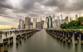 Картинка skyline, Brooklyn, Lower Manhattan