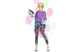 Картинка шарики, парень, Поющий принц, Uta no Prince-sama