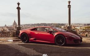Картинка рендеринг, Lamborghini, суперкар, CGI, Huracan, LP-580, by Sebastian Ladan