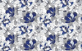 Картинка цветы, текстура, Pattern, Floral