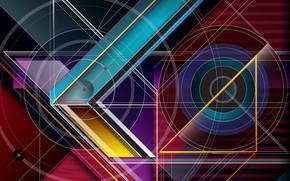 Обои фон, цвет, форма