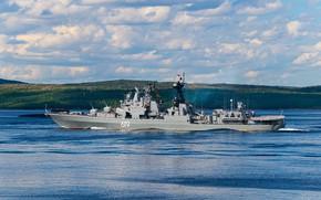 Картинка корабль, большой, противолодочный, Североморск