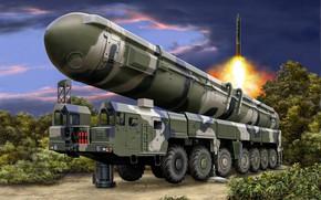 Картинка арт, РТ-2ПМ2, SS-27 Sickle B, РВСН России, «Тополь-М», российский ракетный комплекс