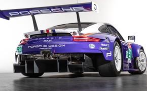 Картинка 911, Porsche, гоночное авто, вид сзади, RSR, 2018