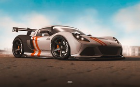 Картинка Авто, Машина, Car, Суперкар, Рендеринг, Concept Art, Transport & Vehicles, by JREEL, JREEL, JGT Lotus …