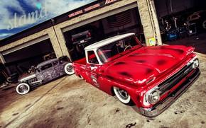 Картинка Cars, Old, Custom, Garage, C10