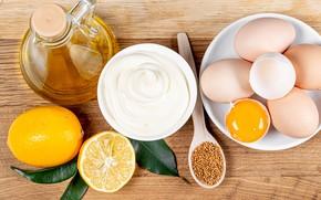 Картинка масло, яйца, лимоны, сметана