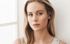 Картинка взгляд, девушка, свет, лицо, портрет, макияж, актриса, красотка, Brie Larson